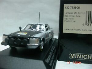 WOW EXTREMELY RARE Mercedes 450 SLC Vic Preston jr Safari 1979 1:43 Minichamps