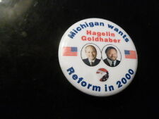 Michigan Reform Party Pin Back Presidential Political Campaign Button Hagelin