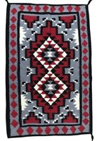 "Vintage Antique Native American Navajo Ganado Rug Blanket, Handwoven 48"" x 32"""