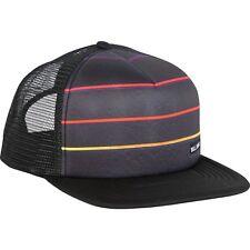 BILLABONG MENS BASEBALL CAP.TRUCKER MESH STRIPED  BLACK FLAT PEAK HAT 8S 01 19