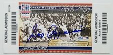 Gino Cappelletti Signed New England Patriots Ticket The Hall Boston Fenway RARE