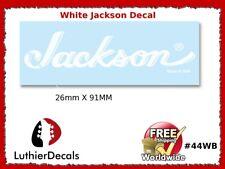 Jackson Decal White Guitar Waterslide Headstock Restoration Logo #44w