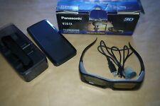 Panasonic Active Shutter 3D Glasses TY-EW3D2M with Case and Cable / Boxed