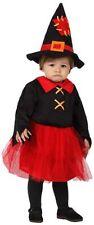 Costume da strega da neonato 0-6 mesi per halloween o carnevale. vestito bimbo
