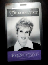 Princess Diana Picture Event Staff Pass Rare Otto US Visit to Chicago in 1996