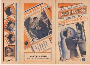 "GRETA GARBO - LEWIS STONE ""INSPIRATION"" 1932 ORIGINAL COLOR MOVIE HERALD"
