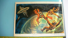 1973 RUSSIAN SOVIET ROCKET,SPACE,FRIENDSHIP PROPAGANDA POSTER 30x40 RODCHENKO