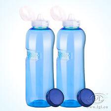 2 x 1 L Tritan Borraccia + TAPPO SPORT - Bottiglia d'ACQUA SPORT YOGA CQUA