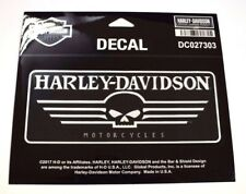 Genuina Harley Davidson Negro y Blanco lineal Willie G cráneo Decal Sticker