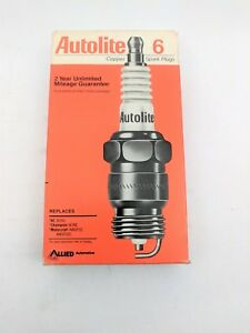 Spark Plug Box of 6 Standard Copper Core Autolite Auto Lite 766