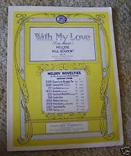 With My Love (Con Amour) Paul Beaumont Sheet Music