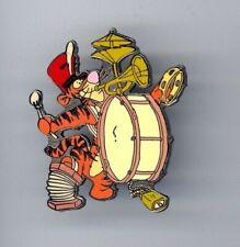 Disney Disneyland Winnie the Pooh Tigger One-Man Band Drum Horn Cymbal Bell Pin