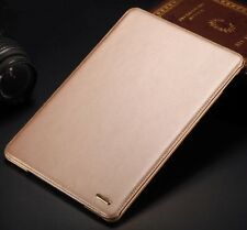 Genuine real leather smart stand case cover for ipad Air2 KQ-02 Gold Color