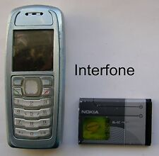Unlocked Light Blue and Grey Nokia 3100 Mobile Phone-Average Condition