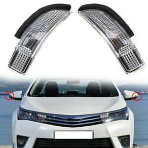 2PC LED Door Side Mirror Turn Signal Light for Toyota Scion iM Corolla 13-2017