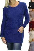 Womens Stretch Textured Knit Jumper With Pockets 6-16
