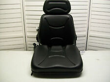 New Black Seat For Excavator,Forklift,Skid Loader,Backhoe,Dozer,Tele handler #Km