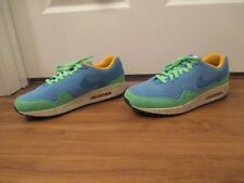 Used Worn Size 10.5 Nike Air Max 1 EM Beaches of Rio Shoes Blue Poison Green
