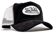 VON van DUTCH MESH TRUCKER BASE CAP [CORD BLACK/WHITE] HUT MÜTZE BASECAP KAPPE