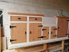 Large Kitchen sink unit. Hand made Solid Pine. Belfast sink included