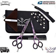 Professional Hairdressing Barber Hair Cutting Thinning Scissors Set Free Tweezer