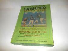 "VINTAGE SUBBUTEO TABLE SOCCER SET "" CONTINENTAL CLUB EDITION """