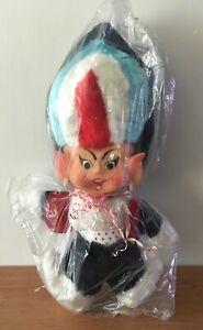GENIE RUBBER FACE STUFFED TOY DOLL - VINTAGE 1960s PROMO GAS RUSHTON-LIKE *MINT*