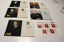1994 AUSTRALIAS WARTIME PRIME MINISTERS STAMP  MAXI CARDS SET OF 5