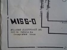 Miss O pinball Machine by williams Schematic Original from 1969