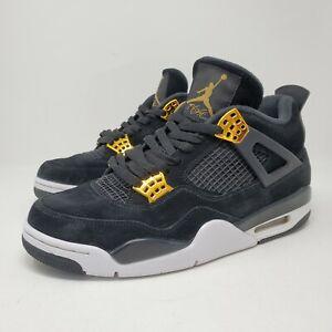 Nike Air Jordan 4 Retro Royalty Size 8.5 US 308497-032 Black Gold
