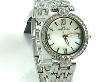 ANNE KLEIN 8639MPTT MOTHER OF PEARL DIAL CRYSTALS TWO TONE WATCH RETAIL 85