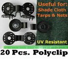 Polyclips (20pcs) Instant Adjustable Grommets Tarp Fabric Shade Cloth Poly Clips