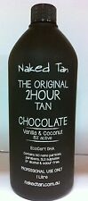 NAKED TAN -  CHOCOLATE - 15% DHA Spray Tan Solution - 2hr wash'n'wear