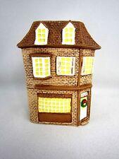 Vintage 1980s Village Christmas Store House Ceramic USA Model Railroad