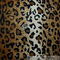 BonEful Fabric FQ Cotton Quilt Brown Black African Leopard Cheetah Skin Print NR