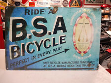BSA BICYCLE  SIGN PARTS & ACCESSORIES EC0217