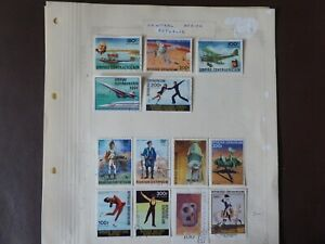 3 pages of Central African Republic stamps mint & used