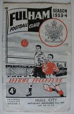 Hull City Teams F-K Division 2 Football Programmes