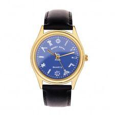Men's G407 Masonic Gold Plated & Blue Wrist Watch