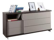 Cassettiera a cinque cassetti rovere nobile e grigio laccato CT4167 L160h75p45