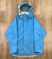 Vintage BERGHAUS Womens AQUAFOIL Rain Jacket   Hooded Waterproof   UK 12 Blue