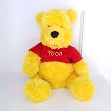 Walt Disney World Winnie The Pooh Bear 17 inch Plush Red Shirt Stuffed