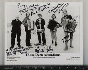 Those Darn Accordions Autograph Signed 8x10 B&W Promo Promotional Photo tob