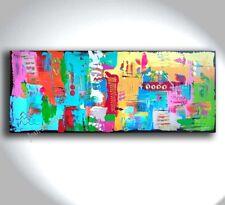 JEAN SANDERS - Bild ***HANDGEMALTE ORIGINALE***  150x60cm abstrakt bunt modern
