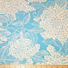 By Yard-Mystic Canvas Flower Fabric Robert Kaufman 15861-64 Azure Blue