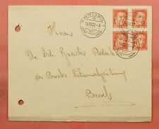 SWITZERLAND #B44 BLOCK ON 1927 AMRISWIL CANCEL TO BASEL