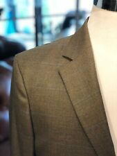 NEW! HACKETT London Men's Green Jacket Wool Windowpane Check Blazer 40R $650