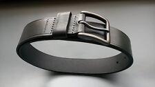 $45 Calvin Klein Men's Leather Dark Gray Belt Gunmetal Buckle  40