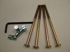 Bett/gitterbett bolzen 4 sätze von M6 x 120mm Bolzen,innensechskantschlüssel &