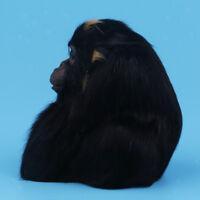 Black Gorilla Orangutan Statue Figure for Home Garden Ornament Decoration